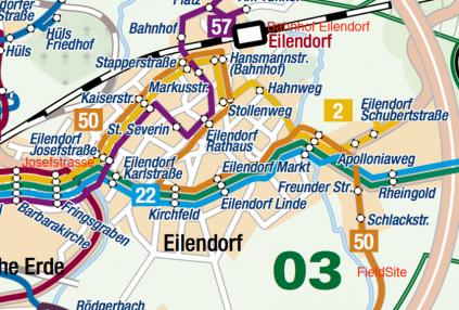 Bus and Train from Aachen
